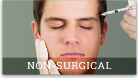picture of a man getting a procedure similar to Botox that links to the Procedures page